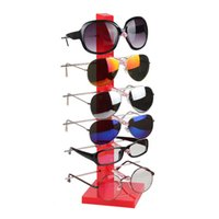 Wholesale Sunglass Holder Rack - High Quality Plastic Sunglass Display Rack Shelf 6 Pairs Eyeglasses Showing Stand Jewelry Holder Glasses Display Props Frame