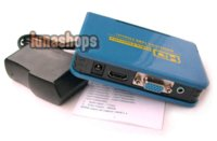 Wholesale Audio Video Classes - PC DVD HDTV HDMI to VGA Video Audio Converter Box LN000520 wholesale converter audio hdtv hdmi