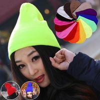 Wholesale Neon Winter Hats - 110PCS LOT Fashion Knitted Neon Women Beanie Girls Autumn Casual Cap Women's Warm Winter Hats Unisex Berets free ship