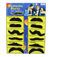 Wholesale Mustache For Party - 1 9zg Funny Fake Party Mustache Creative Fine Beard Self Adhesive Simulation Beards Handlebar Mustaches For Game Cos April Fool Day