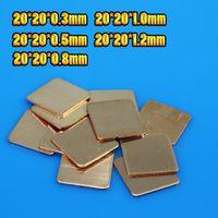 Wholesale Copper Pad Cpu - Wholesale- New Premium 1 pcs 20MMx20MM DIY Copper Shim Heatsink thermal Pad for Laptop GPU CPU VGA Chip RAM Copper Heat sink