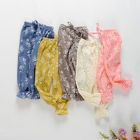 Wholesale Childrens Harem Pants - Girls Pants Toddler Baby Clothes Kids Harem Pants Pattern Summer Childrens Clothing Loose Bloomers Floral Trousers