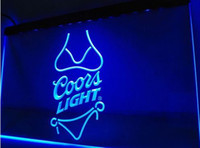Wholesale Led Coors Light Signs - Bar Beer coors LIGHT 3d signs LED Neon Light Sign