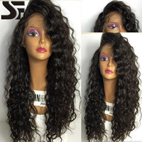 SF 100% Virgin Lace Frente Cabelo Humano Perucas Cabelo de Beijo PrePlucked Natural Hairline Full Lace Wigs Deep Wave Brazilian Wig For Black Women