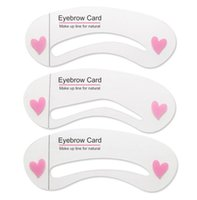 Wholesale Thrush Aids - 3pcs set BIOAQUA eyebrow set painted eyebrows multi-purpose thrush word aid repair popular template threading beauty eyebrow makeup tools