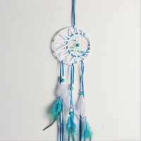 Wholesale Super Length Nautical Home Decor Crafts Dreamcatcher Wind Chimes Handmade Dream Catcher With Feathers Wall Hanging attrape reve decoration
