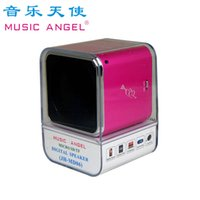 Nouvelle musique originale Angel MD06 Mini-haut-parleur Stereo Speassesrs Support TF Card Portable Digital MP3 Player JH-MD06D