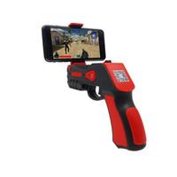 sanal oyunlar toptan satış-2018 Taşınabilir Sanal AR Oyunu Tabanca Bluetooth AR Oyuncak Tabanca Ar Blaster iPhone Android Akıllı Telefon için