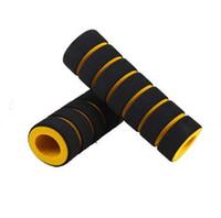 Wholesale Yellow Motorcycle Grips - 1 Pair Grip Foam Soft Comfort Sponge Handle Bar for Cycling Motorcycle Bike MTB yellow