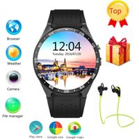 Top Lemfo KW88 3G WIFI GPS smart watch Android 5.1 OS MTK6580 CPU 1.39-дюймовый экран 2.0MP камера smartwatch для Apple moto huawei