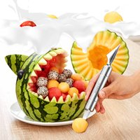 Wholesale Digging Knife - Stainless steel fruit digging device, watermelon digging ball spoon, artifact cantaloupe splitter, carved knife, platter tool.