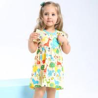 Wholesale Girls Birthday Dress Patterns - Girls Birthday Dress Summer Ribe Fille Enfant Toddler Dress Princess Costume Character Pattern Children Dresses Kids