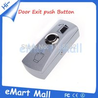 Wholesale Exit Push Button Access Control - Wholesale-Zinc Alloy Door Exit Push Release Button Switch for Access Control System