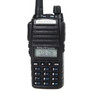 uhf rádio de banda dupla venda por atacado-Freeshipping BAOFENG UV-82 VHF / UHF Dual Band 136-174 / 400-520 MHz 2-PTT 5 W Rádio Em Dois Sentidos Dual Display + Dual Standby