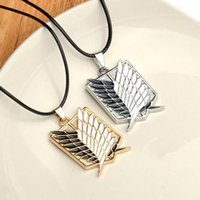 Wholesale Anniversary Animation - Japanese Animation Attack On Titan Necklaces Investigation Corps Necklace Pendant Fashion Cartoon Necklaces For Men Wholesale