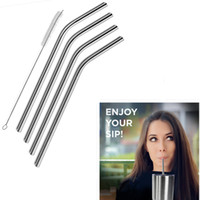 Wholesale Stainless Steel Drinking Straws Wholesale - Stainless Steel Drinking Straws Cleaning Brush Durable Reusable Metal Bend Drinking Straws for 20 & 30OZ Tervis Cups