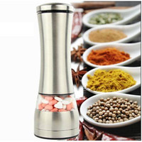 Wholesale Pepper Bar - Stainless Steel Electric Salt Grinder Mill Salt And Pepper the grinder Kitchen Dining Bar Family Hotel Barbecue Tools YYA754