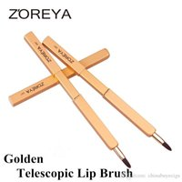 Wholesale Retractable Lip Brushes - Hot Sale ZOREYA Adjustable Lip Brush Soft Synthetic Fiber Makeup brush best quality Retractable Lip Brush 3 colors optional DHL Free