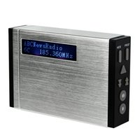 Wholesale Pocket Stereo Radio - Wholesale-Portable DAB Radio+ FM Stereo Radio Pocket Size DAB Receiver with LCD Display Radio Recorder Y4396D