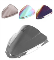 Parabrisas K8 Baratos-7Color Windshield WindScreen Double Bubble para Suzuki GSXR 600 750 2008-2009 K8