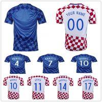 Wholesale Football 14 - Croatiaes Soccer Jersey 10 MODRIC 4 PERISIC 7 RAKITIC 17 MANDZUKIC 11 SRNA 14 BROZOVIC 16 KALINIC 24 CAKTAS Hrvatska Football Shirt