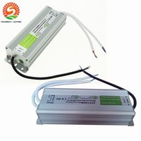 Wholesale Outdoor Led Lights 24v - DC 100W LED Driver Power Supply Waterproof Outdoor 12V   24V 100W Transformers Adapter LED Strip light Lamp 20pcs Free shipping
