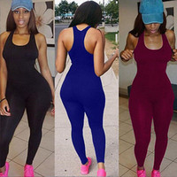 Wholesale Bodycon Bodysuit Be Fitness Playsuit Mesh Sexy Women Jumpsuit Tank Romper Catsuit Macacao Womens Jumpsuit Combinaison Femme