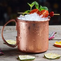 Wholesale Coffee Cup Wholesale China - Hammered Copper Mug Moscow Mule Mugs Stainless Steel Beer Cup Milk Coffee Cups Water Glass Drinkware OOA1959