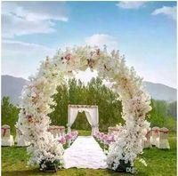 Wholesale Cherry Garland - 1 Meter Long Artificial Simulation Cherry Blossom Flower Bouquet Wedding Arch Decoration Garland Home Decor Supplies