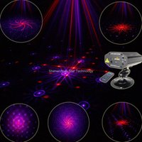Wholesale Disco Party Laser Remote - Red Purple Laser Remote 16 Patterns Projector Effect Lighting Light DJ Dance Holiday Shop Disco Bar Xmas Home Party Stage Lights Show B167