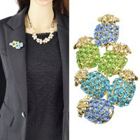 Wholesale New Fashion Colorful Rhinestone Flower PineappleBrooch For Women Accessories Jewelry