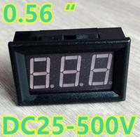 voltmetre kabloları toptan satış-0.56 inç DC25-500V Dijital Kırmızı LED Ekran Voltmetre Ev Kullanımı araba Araçlar Gerilim 3 Teller ile
