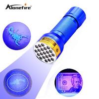 Wholesale blue light flashlights for sale - AloneFire NEW CREE LED UV Light nm LED UV Flashlight blue