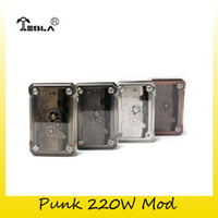 Wholesale Punk Tanks - Authentic Tesla Punk 220W TC Box Mod 2x 18650 Battery Teslacigs Mod For Original 510 Thread Tank 100% Genuine 2212170