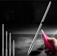 Wholesale Male Sex Toy Hand Free - 10 Frequency Urethral Vibrator Stainless Steel Sounding Catheter Male Penis Insert Dilator Penis Plug Sex Toys for Men