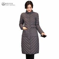 Winter <b>Long Puffer</b> Jacket Women Winter Quilted Coat 2017 New Slim Plus Size Warm Parka militare Giù Cotton Outerwear O4