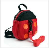 cintos de segurança de criança bebê mochila venda por atacado-Bebê Kid Keeper Segurança Harness Criança Andando Safety Harness Anti-perdido Mochila Leash Bag Strap Rein Bat Bag Ladybug