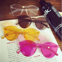 Wholesale Pc Contracts - Frameless transparent couples sunglasses Port of contracted agitation fashion in Europe and the sunglasses, 9803