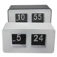 Wholesale Modern Retro Flip Clock - Wholesale-High Quality New Design Simple Modern Unique Retro Concise Simple Cube Nice Desk Wall Auto Flip Clock Wholeslae Price