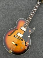 Wholesale Sunburst Electric Jazz Guitar - Custom Shop Vintage Sunburst L-5 Classic Jazz Guitar jazz electric guitar Wholesale Free Shipping HOT