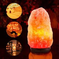 Wholesale Multi Changing Christmas Trees - Himalayan Crystal Rock Salt Lamp Plug-in Multi Colour Changing Pyramid Shape with Wooden Base Bulb Power Cord Air Ionizer Natural Lamp