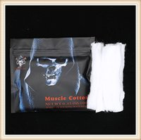 Wholesale Wholesale Jellyfish - Demon Killer Muscle Cotton Authentic Tasteless Cotton Wick Suitable for RBA RTA RDA RDTA Vaporizer & Thorns Jellyfish COTTON BACON 2.0