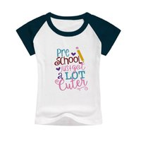 Wholesale Wholesale School Shirts - short sleeve baby t-shirts pre school child funny tops girls cute outfits icing raglan cartoon t-shirts baby tees fashion ready to summer