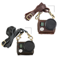 Wholesale Black Brown Leather Case Cover mm UV Filter With Camera Lanyard Neck Strap For GoPro Hero