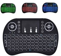 Wholesale Normal Keyboard - Original Normal & Backlit Mini Rii i8 Wireless Keyboard 2.4G English Air Mouse Keyboard Remote Control Touchpad for Smart Android TV Box