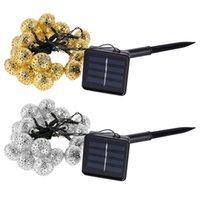 Wholesale Waterproof Battery Solar Powered Led - Wholesale- LED Solar Power Lights For Garden Tree Wedding Decoration 20 Leds String Fairy Ball Party Light Garland Outdoor Waterproof Ligh