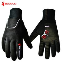 Wholesale Long Waterproof Gloves - 2017 new men and women universal winter warm bike gloves all means windproof waterproof cold outdoor long refers to riding gloves