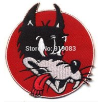"""Wholesale Hot Rods Cars - 3.5"""" Hot Rod Patch Lone Wolf badge Red Retro Cartoon Head Motorcycle car Club Halloween MC Biker Vest Jacket back chest transfer"""