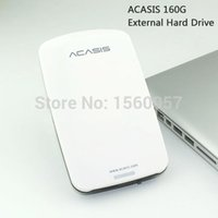 Wholesale Hdd Play - Wholesale- Good price Free shipping 2.5'' ACASIS Original 160G HDD USB2.0 External Hard Drive Mobile Portable Disk Plug and Play On Sale