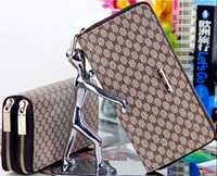 Wholesale Double Clutching - Wholesale- Double Zipper Women Wallets Brand Lady Hadbags Clutch Coin Purse Moneybags Good Quality PU Leather Woman Long Wallet Burse Bags